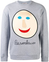 Christopher Kane embroidered face sweatshirt - men - Cotton - S