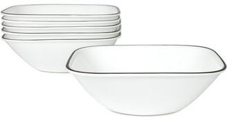 Corelle Square Simple Lines 22-oz Soup Bowl, Set of 6