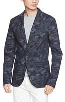 A|X Armani Exchange Men's Denim Camo Blazer