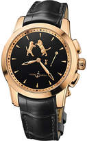 Ulysse Nardin Hourstriker 18 carat and alligator watch
