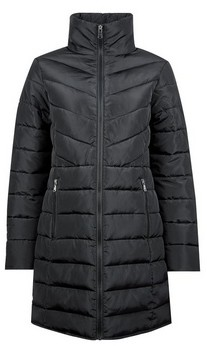 Dorothy Perkins Womens Black Long Padded Jacket With Recycled Wadding, Black