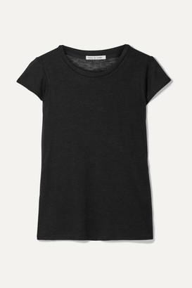 FRANCES DE LOURDES Garcon Cashmere And Silk-blend T-shirt - Black