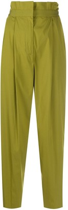 Pt01 High-Waisted Pleated Trousers