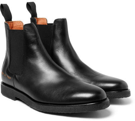 Common Projects Cross-Grain Leather Chelsea Boots