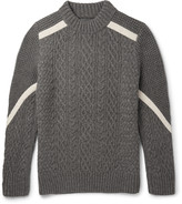 Sacai - Cable And Waffle-knit Wool Sweater