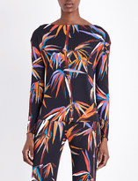 Emilio Pucci Bamboo-print jersey top