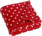Playshoes Unisex Baby Soft Fleece Blanket Dots 75x100cm Dressing Gown,(Manufacturer Size:75x100cm)
