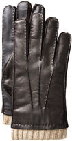 Johnston & Murphy Knit-Cuff Leather Smart Gloves
