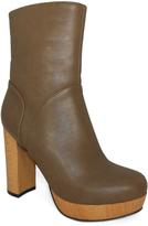 C Label Taupe Platform Ankle Boot