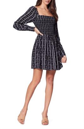 Paige Palmetto Smocked Long Sleeve Dress