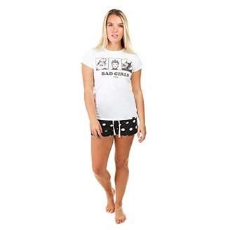 Disney Women's Bad Girls Pajama Set,Small