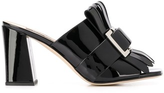 Sergio Rossi Buckle Fringed Sandals