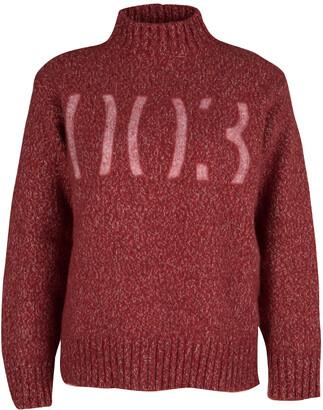Boss By Hugo Boss Boss Orange By Hugo Boss Red Chunky Knit Rib Trim Sweater XL