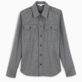 Stella McCartney Grey melange Hill shirt