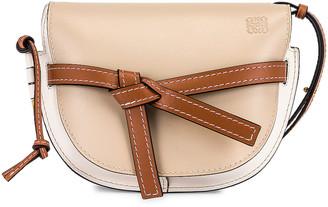 Loewe Gate Small Bag in Light Oat & Soft White | FWRD