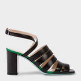 Paul Smith Women's Black Leather 'Asa' Heeled Sandals