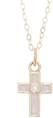 Ron Hami 14K Yellow Gold Diamond & Enamel Cross Pendant Necklace