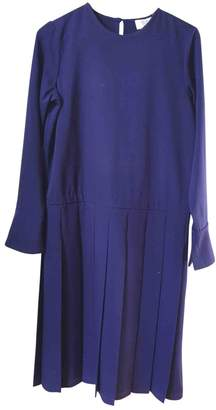 Maryam Nassir Zadeh Navy Wool Dress for Women