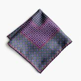 J.Crew Silk pocket square in medallion print