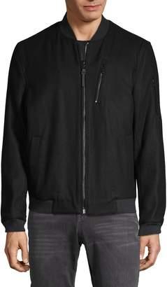 Michael Kors Wool-Blend Zip Jacket