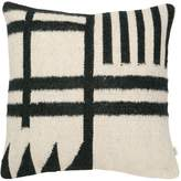 ferm LIVING Black Lines Kelim Accent Pillow