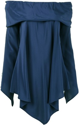 Sies Marjan Asymmetric Off-Shoulder Blouse