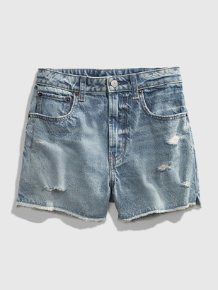 Gap Teen Distressed Light Wash Denim Shorts