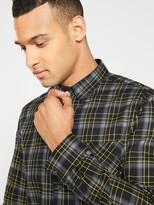 Hugo HUGO Ermann Check Longsleeve Shirt - Black/Grey