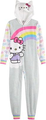 Hello Kitty Licensed Character Girls 4-12 Zip-Up Suit/Onesie Pajama