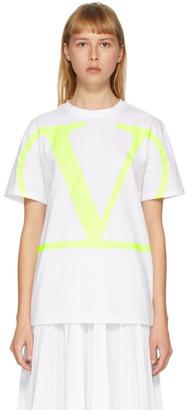 Valentino White and Yellow VLogo T-Shirt