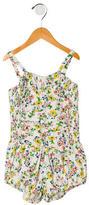Stella McCartney Girls' Floral Print Ruched Bodysuit w/ Tags