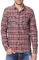 Buffalo David Bitton Sitroll Chambray Marbled Yarn Plaid Shirt