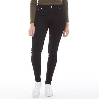 Fluid Womens Twill Skinny Jeans Black