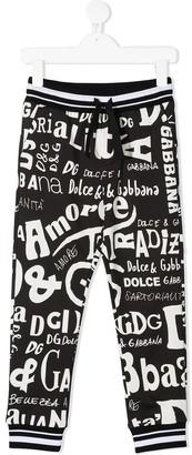 Dolce & Gabbana Kids Multi-Logo-Print Track Pants