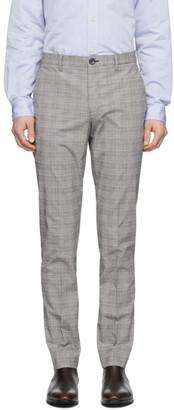 Paul Smith Grey Plaid Chino Trousers