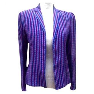 Ted Lapidus Purple Silk Jacket for Women Vintage