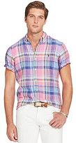 Polo Ralph Lauren Plaid Linen Short-Sleeve Woven Shirt
