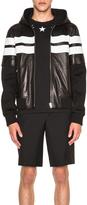 Givenchy Mixed Fabric Hooded Jacket