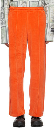 Martine Rose Orange Velour M-Suininki Lounge Pants