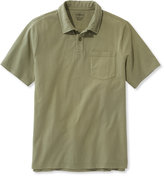 L.L. Bean Lakewashed Garment-Dyed Cotton Polo, Slightly Fitted Short-Sleeve