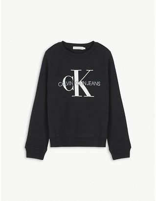 Calvin Klein Jeans Monogram print cotton sweatshirt 4-16 years