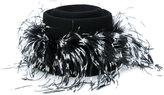 Le Chapeau feathers applique hat