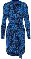 Diane von Furstenberg Floral-Print Silk Mini Shirt Dress