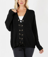 Jane Black Oversize Lace-Up Cardigan