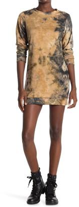 Velvet Torch Tie Dye Shift Sweater Dress