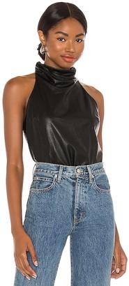 Amanda Uprichard Sandrine Leather Top
