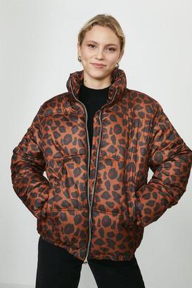 Coast Leopard Print Puffer Coat