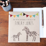 STUDY Lou Brown Designs Personalised Zebra Notebook