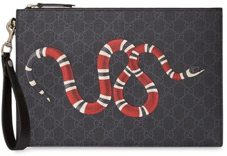 Gucci GG pouch with kingsnake