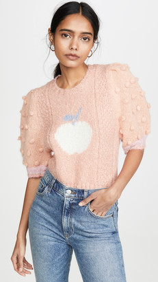 LoveShackFancy Cyrielle Cropped Mohair Sweater